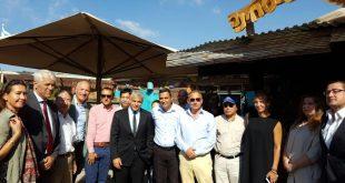 לפיד והשגרירים בסיור בעוטף