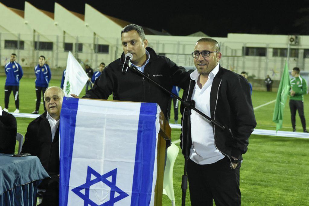 ראש העיר אלון דוידי ורונן גבאי. צילום: אורי גבאי
