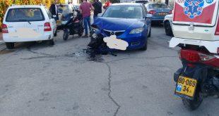 שתי פעוטות נפצעו קל בתאונת דרכים
