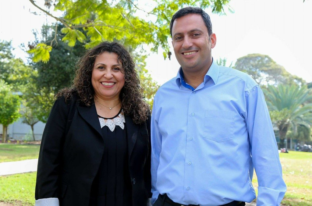 אלון דוידי ויהודית אוליאל. צילום: אורי גבאי