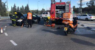 גבר ואשה נפצעו קל ובינוני בתאונה בכביש 232 סמוך לשדרות