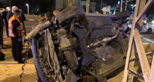 צעיר נפצע בינוני כתוצאה מהתהפכות רכבו באיזור התעשייה בשדרות