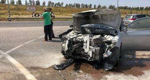 שבעה נפגעים בתאונת דרכים סמוך לאור הנר